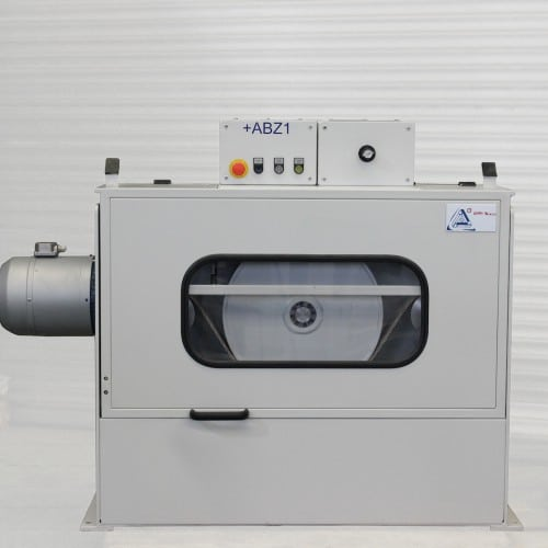 Scheibenabzug SA500 von KHU Sondermaschinen. Maschine geschlossen.
